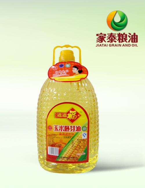 5L道道福吉玉米胚芽油食用调和油(扁玉米瓶4瓶装)