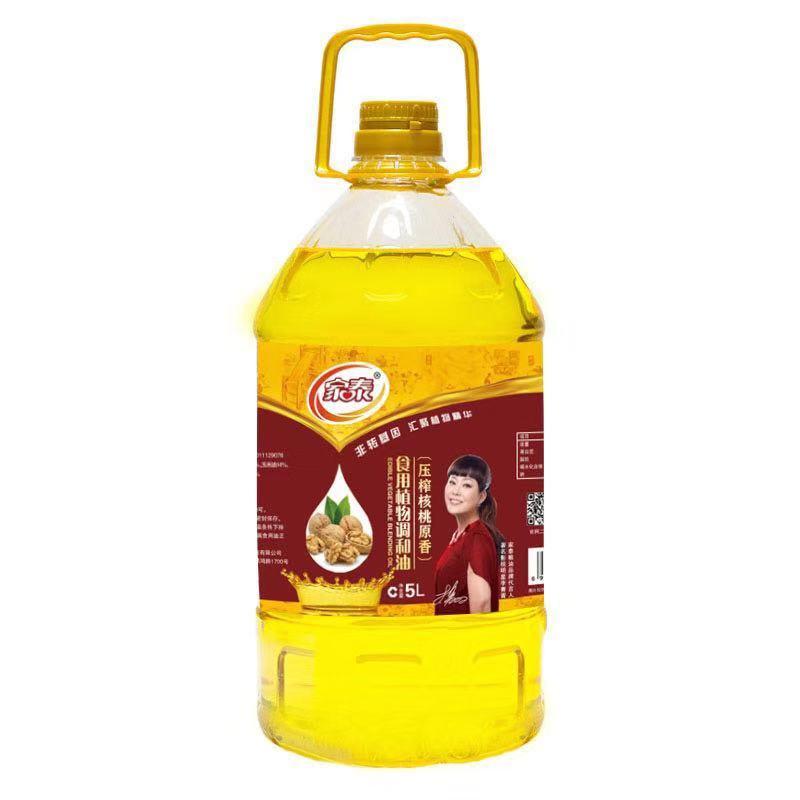 5L家泰压榨核桃食用植物调和油(4瓶装)