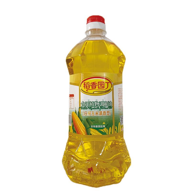 1.8L稻香园丁压榨玉米食用植物调和油(八角瓶6瓶装)