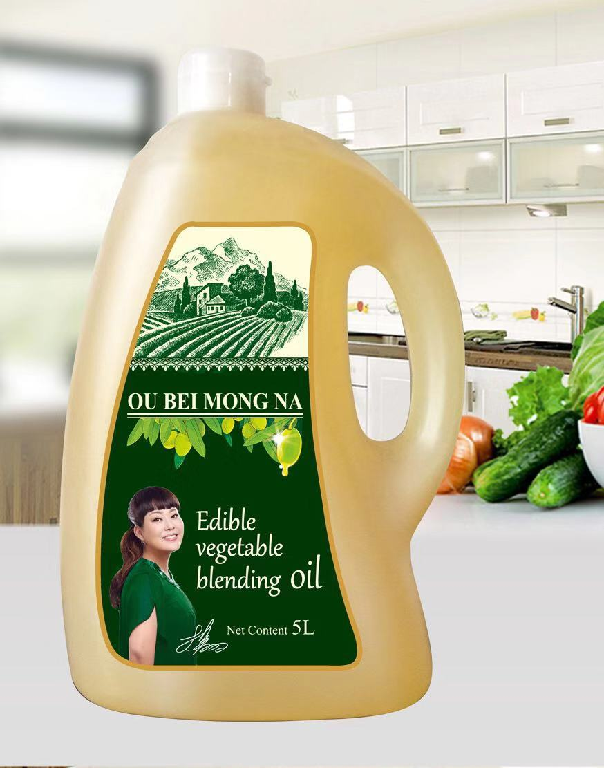 5L欧贝蒙娜橄榄食用植物调和油磨砂瓶
