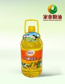 5L家泰压榨花生食用调和油(4瓶装)