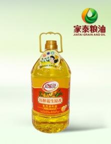 5L家泰压榨花生原香食用调和油(4瓶装)