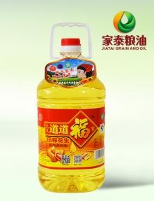 5L久久道道福吉压榨花生食用调和油(方瓶4瓶装)