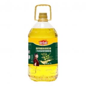 5L居家旺特级初榨橄榄食用植物调和油(4瓶装)