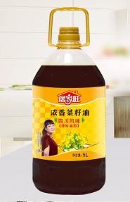 5L居家旺四川风味浓香菜籽油四级菜