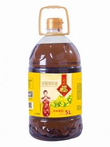 5L道道福浓香菜籽油黑菜四级菜